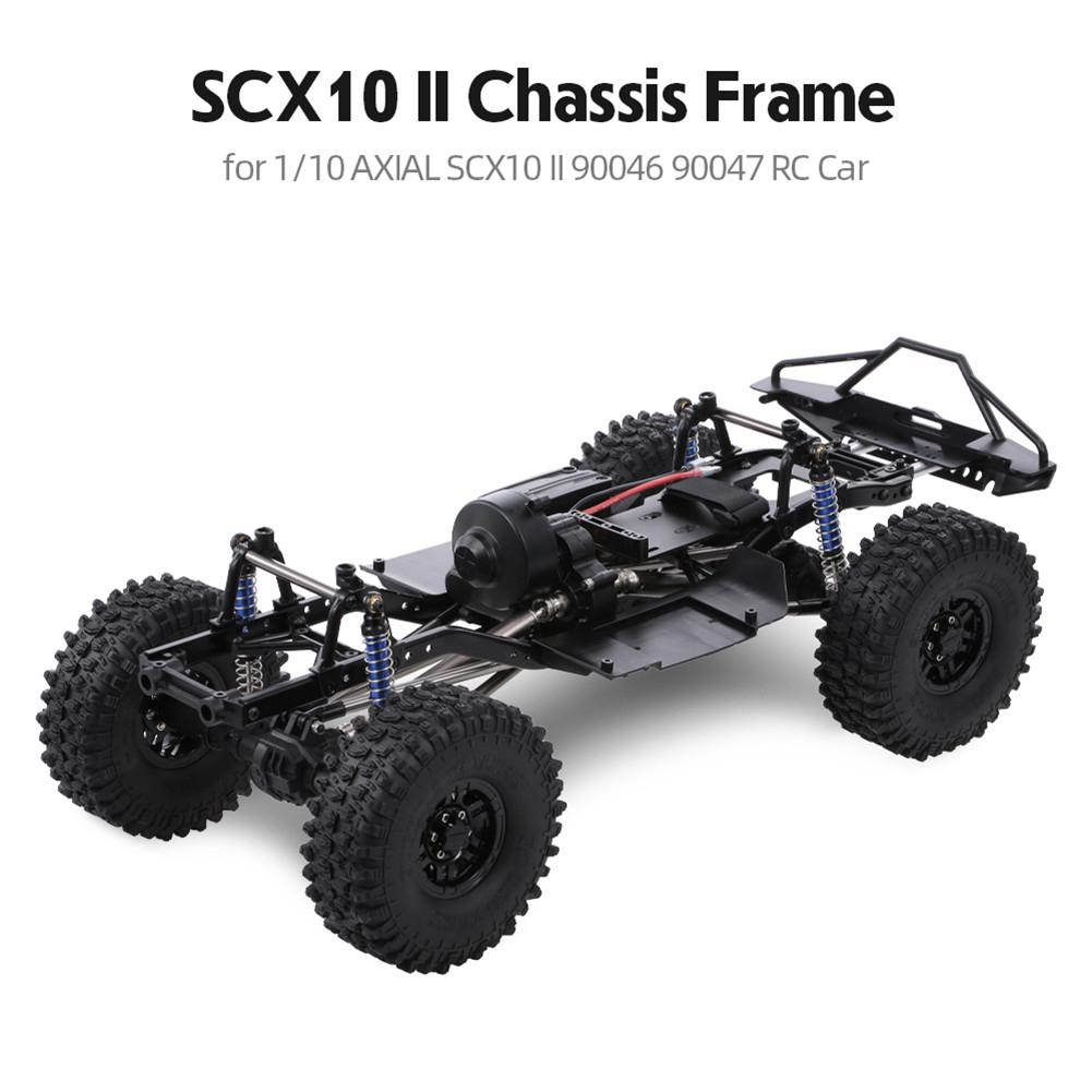 RCtown 313mm Wheelbase Chassis Frame With 540 35T Brushed Motor For 1/10 AXIAL SCX10 II 90046 90047 RC Crawler Climbing Car DIY