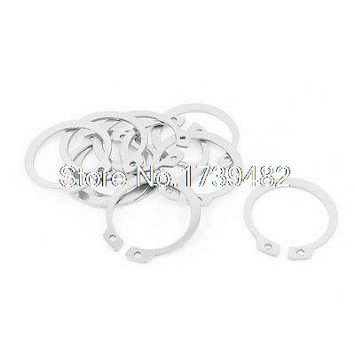 10pcs 304 Stainless Steel External Circlip Retaining Shaft Snap Rings 30mm 50pcs stainless steel e clip snap ring circlip select size from 10mm