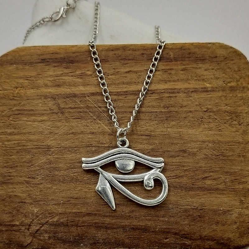 New thời trang ai cập cổ đại eye Of Horus Mặt Dây chữ thập chuỗi ngắn dài Mens Womens bạc vòng cổ Trang Sức Quà Tặng