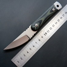 New Arrival C1390  Camping pocket Knife D2 Steel+stone-Wash Surface Blade Outdoor EDC Hand Tool knives