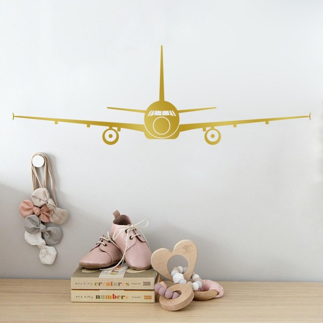 Large Airplane Wall Stickers 3D Muraux Home Decor Aircraft Art Decal  Decoration Kids Room Stickers Removable