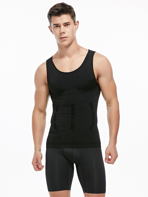 Mens Slimming Vest waist Shaper Trainers Tummy Trimmer Controling Shapewear Big Belly Control Corset Tank Tops 5