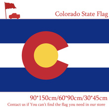 Free shipping 90*150cm 60*90cm American Colorado Flag Polyester Celebration Decoration 30*45cm Car