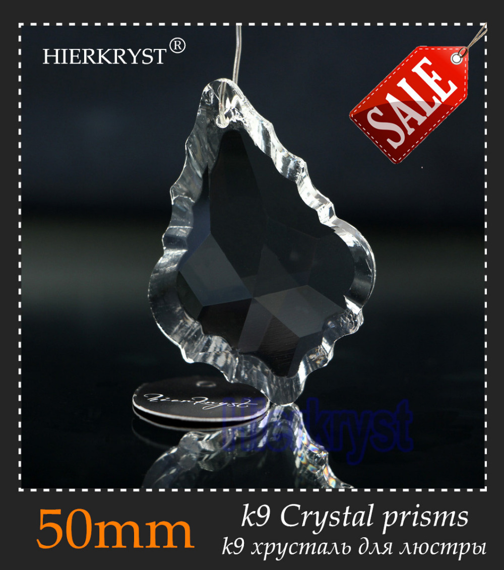 HIERKYST 20 Pcs K9 Glass Crystals Prisms Pendants Chandeliers Parts Lustres Rainbow Lamp Lighting Hanging Drops 50mm 2