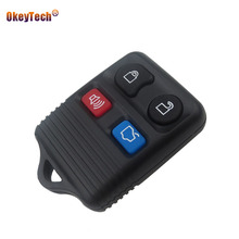 OkeyTech 4 Button Replacement Remote Control Key Shell for Ford Focus Escape Mustang Thunderbird Lincoln Town Car Cover Fob Case