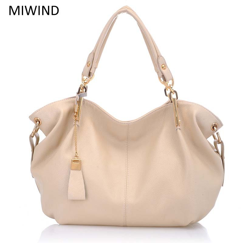 Free Shipping MIWIND Fashion Handbags Famous Brand Bags High Quality Buckle Handbags Women Genuine Leather Shoulder Bag WU2654 miwind new fashion leather handbags high quality women shoulder bags buy one get another free full set 6 pieces more favorable