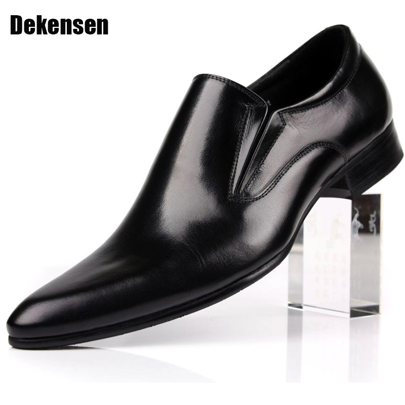 цена Fashion Genuine Leather Men Oxford Shoes,Slip On Casual Office Formal Business Men Shoes,Brand Men Wedding Shoes,Men Dress Shoes онлайн в 2017 году