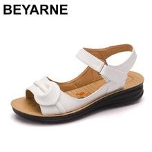 BEYARNE 2018 Summer Women Sandals,Shoes Woman Vintage Ladies Flat Gladiator Sandals Shoes Platforms zapatos mujer