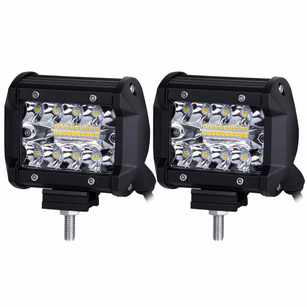 60W Offroad Car LED Work Light Bar Spot Light Waterproof IP68 ATV UTV SUV Work Lamp for Jeep BMW 4inch 2PCS/Lot