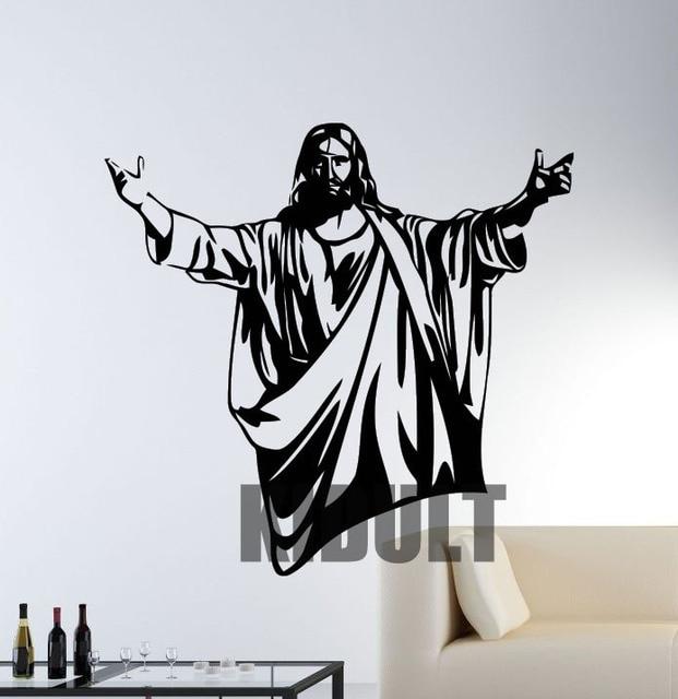Jesus Wall Art aliexpress : buy creative wall jesus statues figure wall vinyl