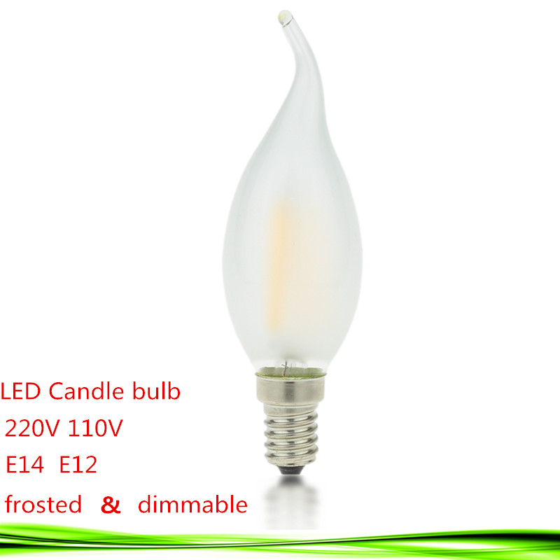 Led E14 E12 Bulb 110v 220v 2w 4w 6w Candle Lamp Dimmable Filament Frosted Crystal Chandelier Light Warm Cold White In Bulbs S From