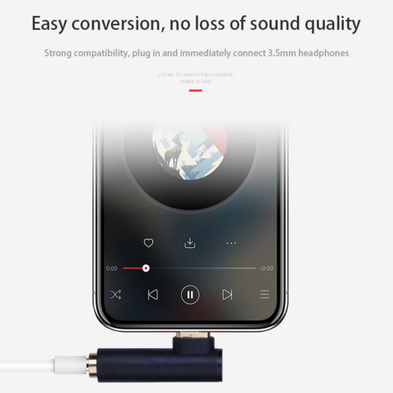 L Type USB C to 3.5mm AUX Audio Cable Headphone Adapter Type-C to 3.5 Jack Earphone Cable for Huawei Mate 10 P20 Xiaomi Mi 6