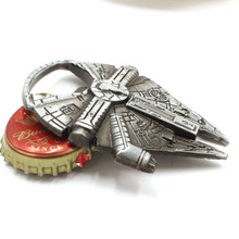 лучшая цена Stainless Steel Beer Opener Star Wars Millennium Falcon for Kitchen Bar Tools  Bottle Opener