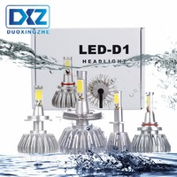 DXZ 2PCS Car LED Headlights H1 H3 H4 H7 H8 H11 9005 HB3 9006 HB4 60W