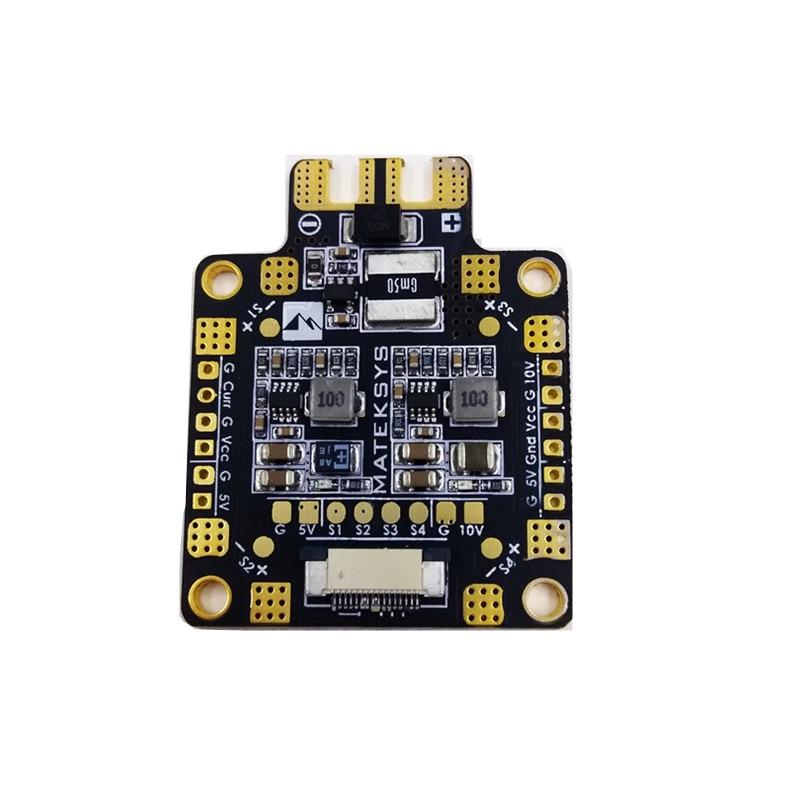 Mateksys Flight Controller F405-STD BetaFlight OSD STM32F405RGT6 Matek FCHUB-6S PDB Hub 12V Power Distribution Board