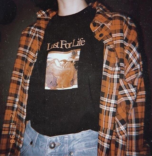 Lust for Life T-Shirt Unisex Do Vintage Da Moda Grunge Estética Tee Hipster Street Wear