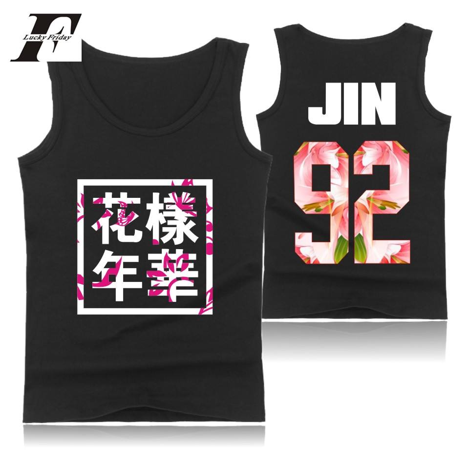 LUCKYFRIDAYF Kpop BTS Sleeveless   Tank     Top   men Summer Casual Korean Bangtan   Tank     Top   men Bodybuilding Fashion Streetwear Vest