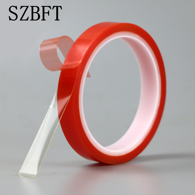 SZBFT 2roll Red High Strength Acrylic Gel Adhesive Double Sided Tape/ Adhesive Tape Sticker For Phone LCD Screen