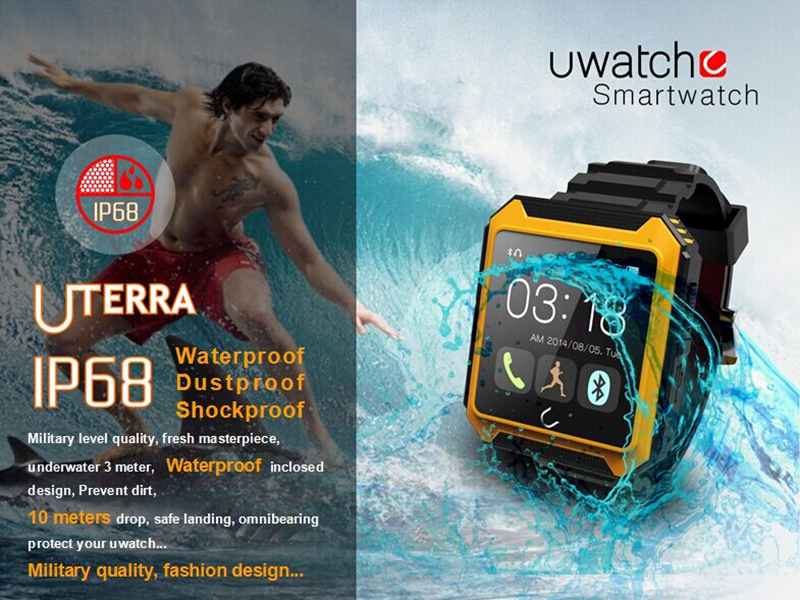 2016 Bluetooth Smart Watch WristWatch U Watch Uterra IP68 Waterproof Pedometer IPS Screen For IOS Samsung