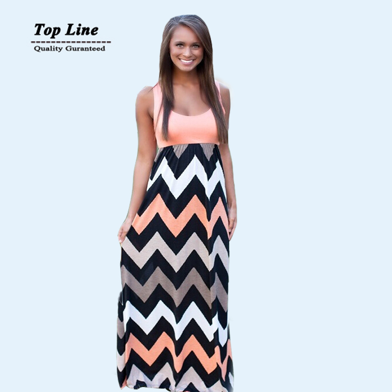 Long striped summer dresses