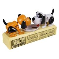 Cartoon Robotic Dog Coins Money Box Bank Funny Automatic Deposit Saving Box Child Kids Birthday Gift