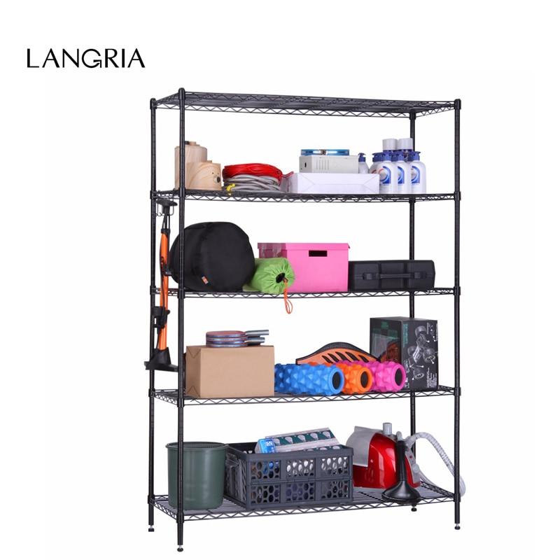 LANGRIA 5 Tier Heavy Duty Extra Large Garage Kitchen Wire