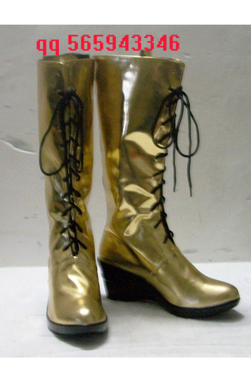Vocaloid Megurine Luka Black /& Gold Cosplay Boots Shoes Version B Custom-made