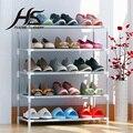 Casa Paisaje Salón Muebles Zapato Portátil Plegable Bastidores de Zapatos Estante Combinación de Múltiples Capas de Tela No tejida A Prueba de Polvo