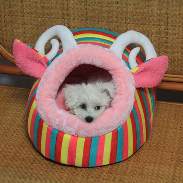 5 Design Cute Cartoon Princess Dog Beds House Indoor Soft Fleece Winter Warm Pet Nest Beds cama para cachorro