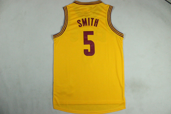 lowest price b22e3 8fef5 Cheap Men's New Basketball Jerseys Jr Smith Jersey #5 Yellow ...