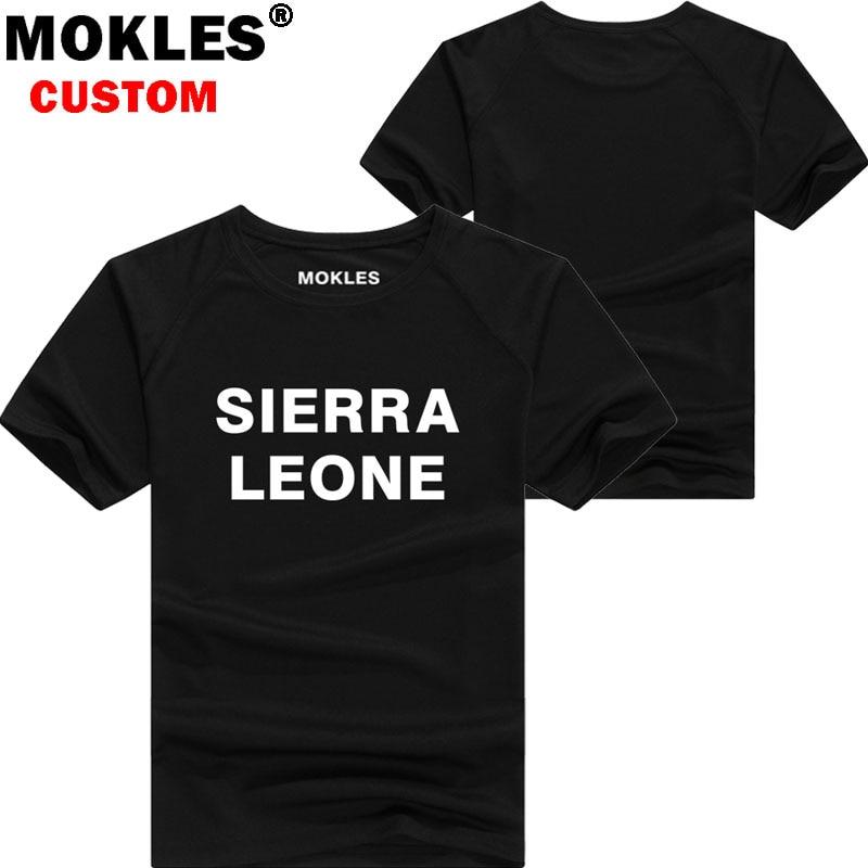 SIERRA LEONE t shirt diy free custom name number sle T-Shirt nation flag sl republic leonean country college print photo clothes