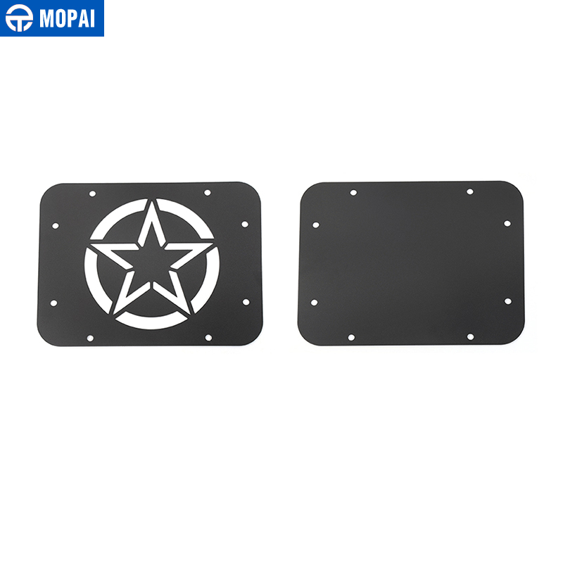 Image 5 - MOPAI Car License Plate Mount Tailgate Air Vent Decoration Cover for Jeep Wrangler JK 2007 2017 Car Accessories Styling-in Chromium Styling from Automobiles & Motorcycles