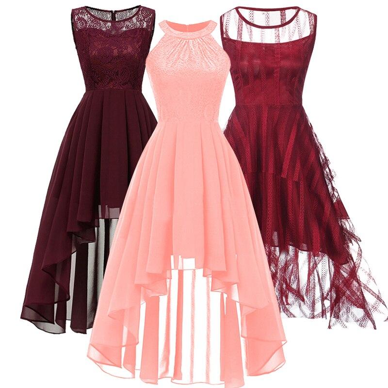 New Bridesmaid Fashion New Neck Lace Pendant Tail Dress Banquet Dress Girl's Beauty Graduation Ceremony Presided Dress Vestidos