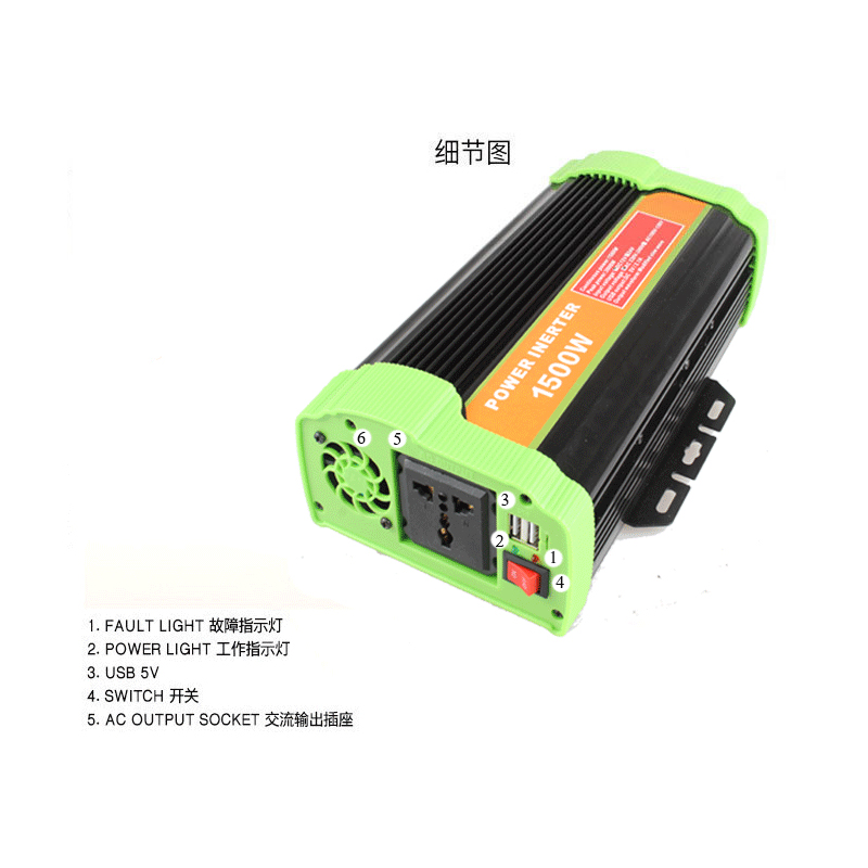 DC to AC 12v 220v 1500w off-grid power inverter 3