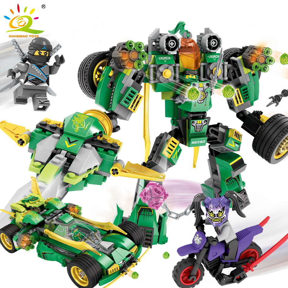 Ninjaes Car Transformed Mecha Model Building Blocks Compatible Legoed Ninjagoed Robot Weapon Lloyd Figures Toys For Children K цена 2017
