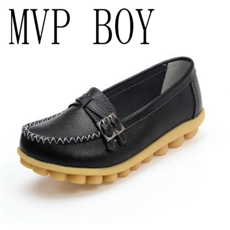 Grande Taille Chaussures Plates En Cuir YfxB5zVM4