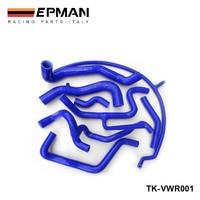 Silicone Intercooler Induction Intake Turbo Coolant Radiator hose kit For VW Golf MK3 VR6 G60 (8pcs) EP VWR001