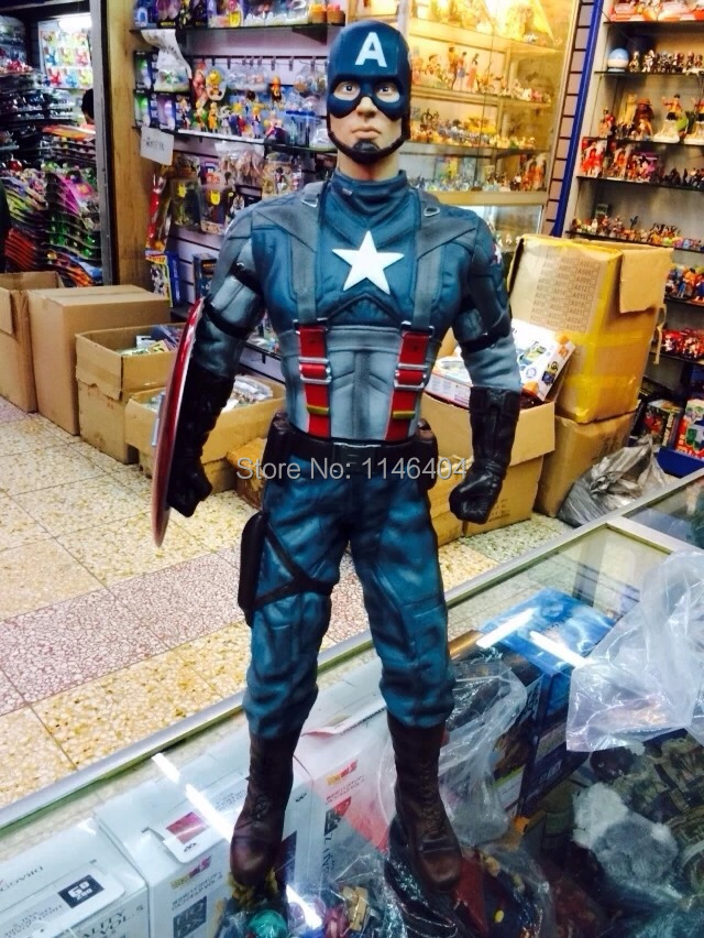 Free Shipping  Captain America Super Big PVC Action Figure Collectible Model Toy 18 49CM free shipping cool big 12 justice league of america jla super man superman movie man of steel pvc action figure collection toy