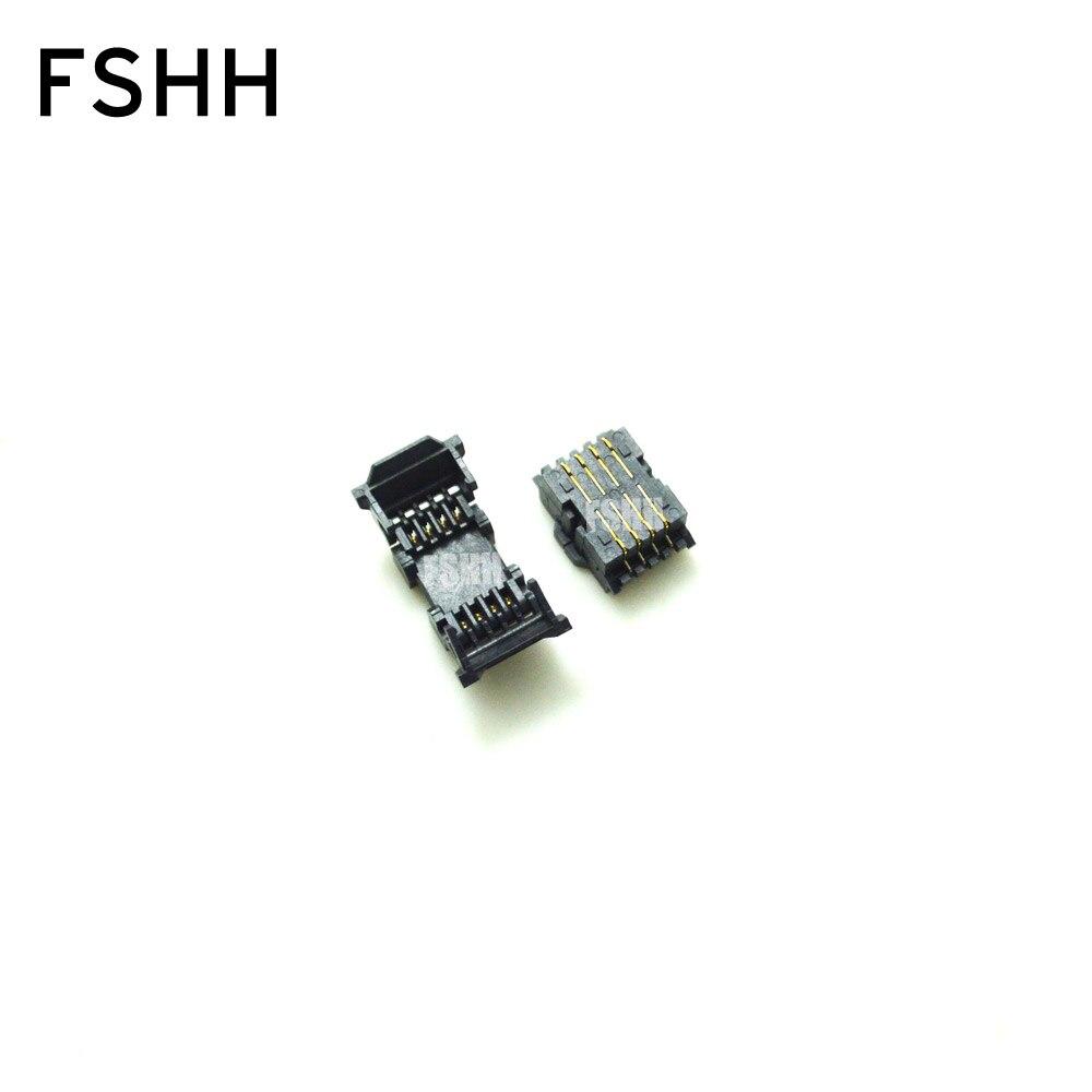 200mil 208mil SOP8 SOIC8 Test Socket IC Socket Clamshell Adapter Socket (Back Pin SMD) = SOK-SPI-8W(G6179-100000)SMT Test Sock