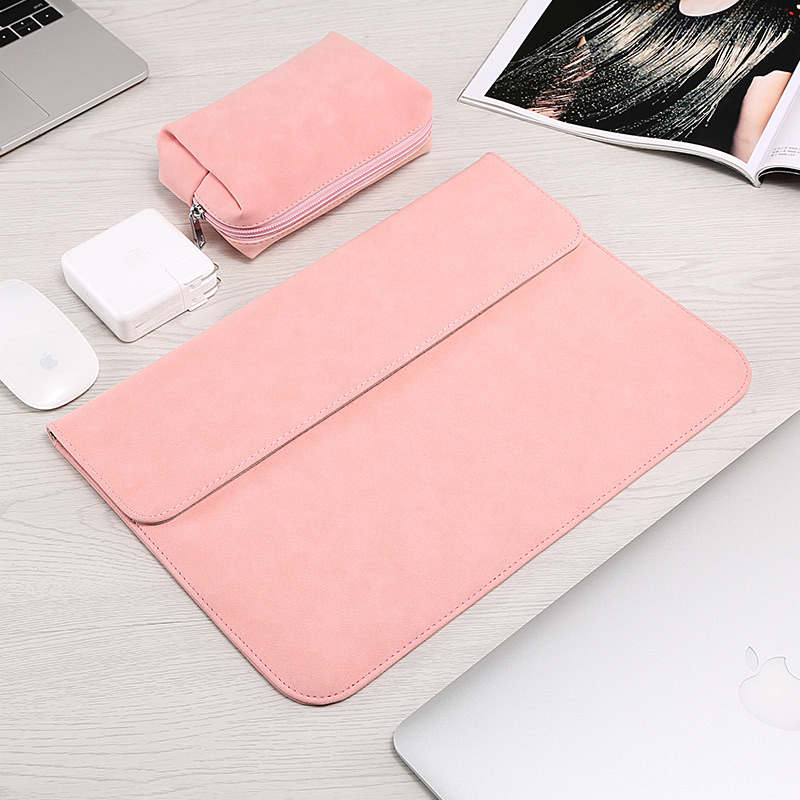 2019 PU Leather Magnetic Buckle Laptop Sleeve Bag For Xiaomi font b Macbook b font Pro