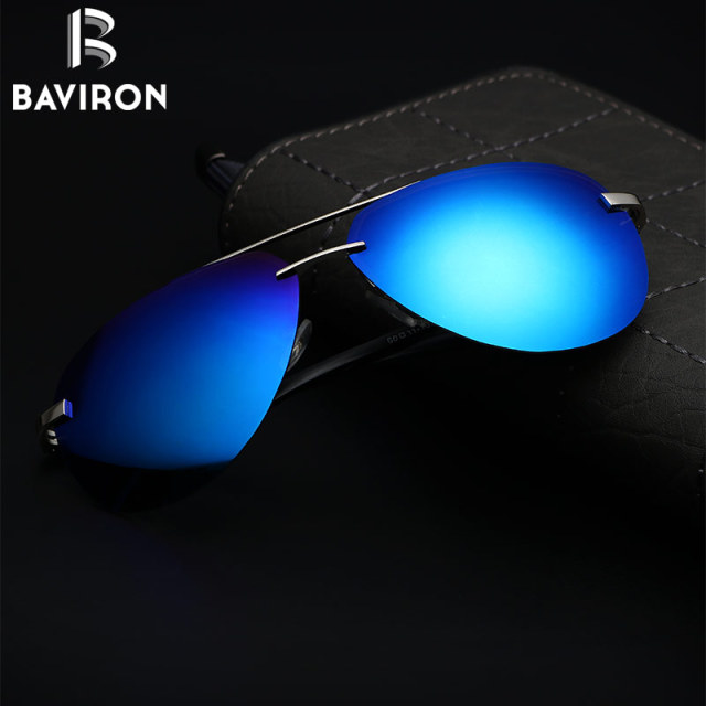 BAVIRON Men Driving Sunglasses Man Matel Polarized Sunglasses Retro Classic Aviators Glasses Unisex Eyewear UV400 Oculos Gafas