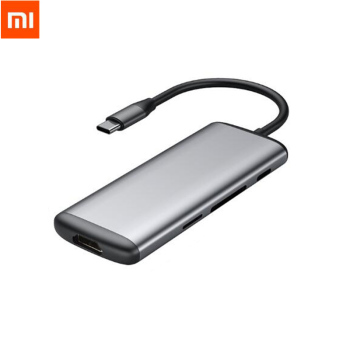Stock Original Xiaomi Hagibis 6 in 1 Type-c to HDMI USB 3.0 TF SD Card Reader PD Charging Adapter HUB for iPhone Mobile Phone Smart Remote Control