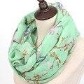Из индии шали и шарфы новый 2016 мода мягкий тонкий шарф женщины животных птица отпечатано шарфы фуляр Sjaal Cachecol Feminino