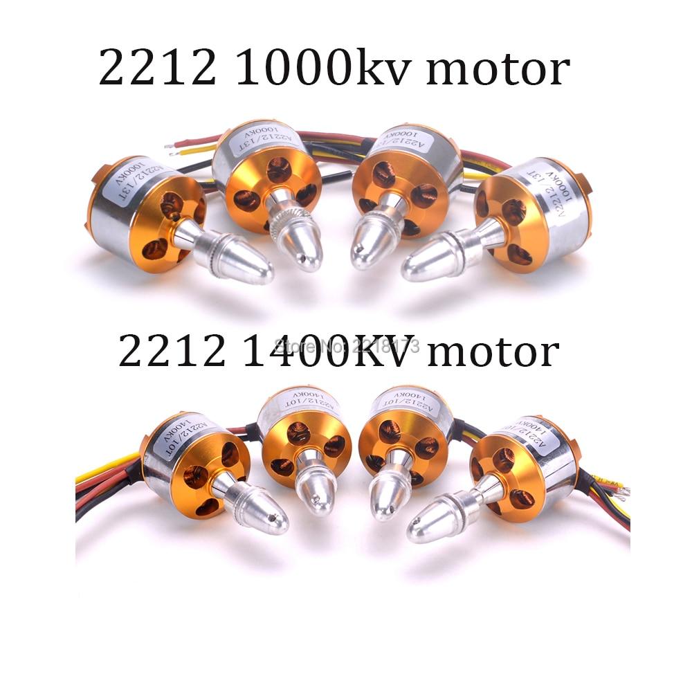 XXD 2212 1000KV / 1400KV Brushless Outrunner Motor 2-3S For RC F450 450mm FPV Quadcopter 4pcs x team xto 2212 850kv forward outrunner brushless motor for helicopter silver