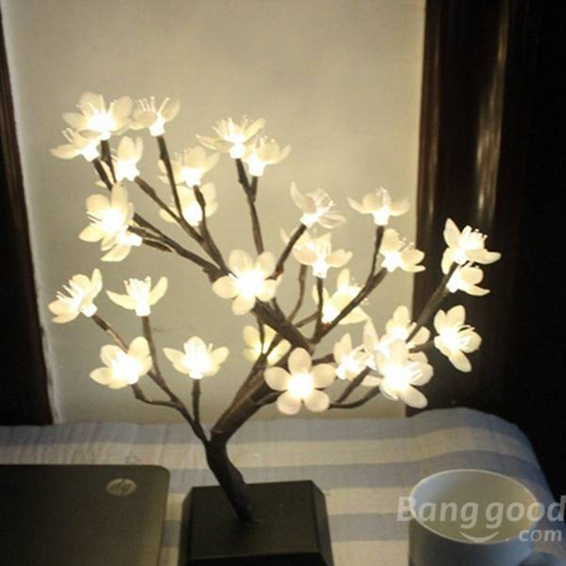 Aliexpress.com : Buy New Arrival Mini Plum Blossom LED Flower Tree Outdoor  Night Light For Christmas Party Home Desk Festival Decoration Lamp From  Reliable ...