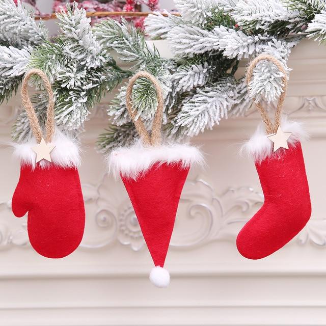 noel 2018 decorations Decoration Noel 2018 Christmas Tree Decorations Santa Hat Boots  noel 2018 decorations