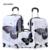 """24 """"+ 12"""" increíble ventas calientes Japón mariposa ABS maleta trolley equipaje sets/Tirón Rod trunk/caja de la caja viajero con rueda de ruleta"""