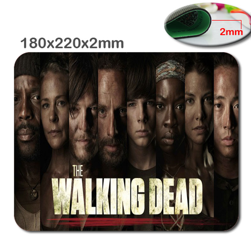 Walk Dead Custom 3D Frint Design PC mputer Gaming Mousepad Fabric + Rubber Material in 220mm*180mm*2mm - accessory and gift