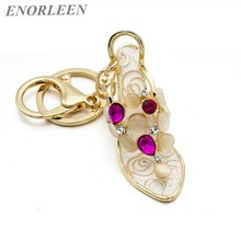 ENORLEEN Brand New Crystal High Heels Keychain Fashion Ms. Creative Gifts Hollow High Heeled Car Keychain bag pendants accessory