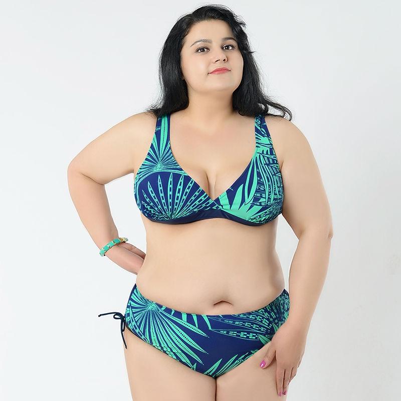 Sexy Large Size Swimsuit Big Women Bikini Plus Size Swimsuit Busty Women Push Up Bikinis Beach